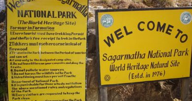 Unauthorized helicopter flights pose risk to Sagarmatha Park wildlife